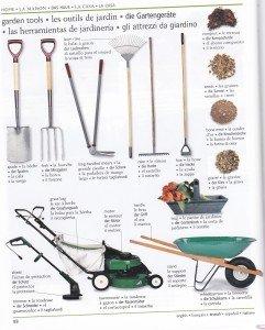 Les outils de jardin 1